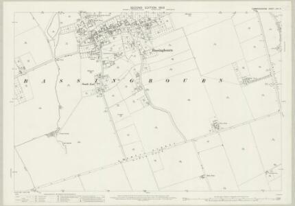 Cambridgeshire LVIII.5 (includes: Bassingbourn; Kneesworth; Litlington) - 25 Inch Map