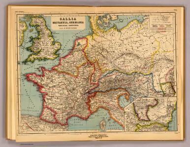 Gallia, Britannia, Germania, Provinciae danuvienses.