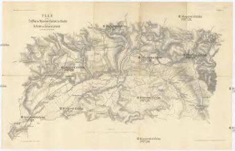 Plan zu denTreffen bei Wysokow (Nachod), bei Skalitz und zum Gefechte bei Schweinschädel 27, 28 und 29 Juni 1866