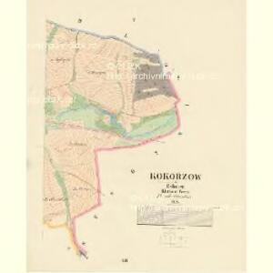Kokorzow - c3272-1-004 - Kaiserpflichtexemplar der Landkarten des stabilen Katasters