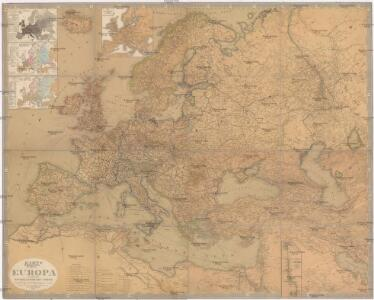 Karte von Europa und dem Mittelländischen Meere