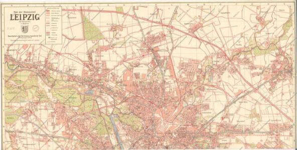 Plan der Messestadt Leipzig