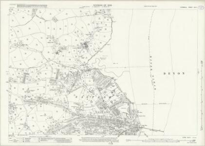 Cornwall XLVI.1 (includes: Devonport; Plymouth; Saltash) - 25 Inch Map
