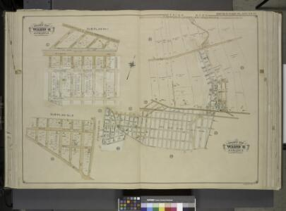 Queens, Vol. 1, Double Page Plate No. 14; Sub Plan    No. 1; [Map Bounded by Hempstead and Jamaica Plank Road, Howard Ave., Clifford   Ave., Silveira PL., Elderd PL., Hollis Ave., Atlantic Ave., West Point Ave.,     Nyack Ave., Webster Ave., Olster Av