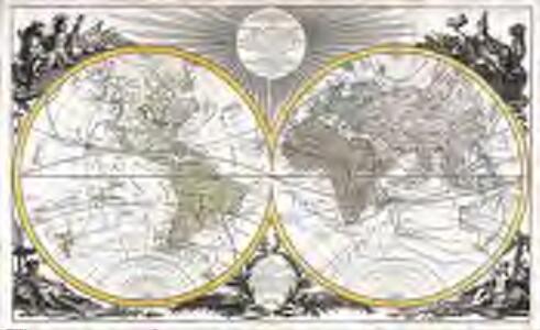 Mappe-Monde géo-hydrographique ou description génerale du globe terrestre et aquatique, en deux plans-hemispheres