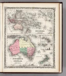 Oceanica, Australia, New Zealand.