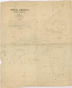 Katastrální mapa obce Horní Lhota
