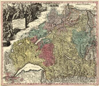 Mappa Geographica illustris Helvetiorum Republicae Bernensis cum adjacentibus pagorum et dynastiarum confiniis accurate delineata