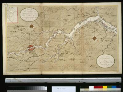 Afteekening van de rivier de Weeser, van de stad Brema tot 't eijland Hamelwerdersand in 't groodt