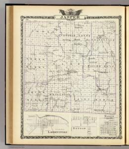 Map of Jasper County, Lawrenceville, Benton and Marion.