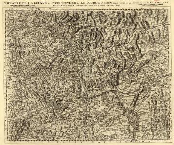 Théatre de la Guerre ou Carte Nouvelle De le Cours du Rhin depuis Worms jusqu'a Bonne et Les Pays Adjacens