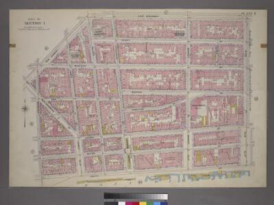 Plate 7, Part of Section 1: [Bounded by New Bowery Street, East Broadway, Pike Street, Pike Slip, South Street, and New Street.]