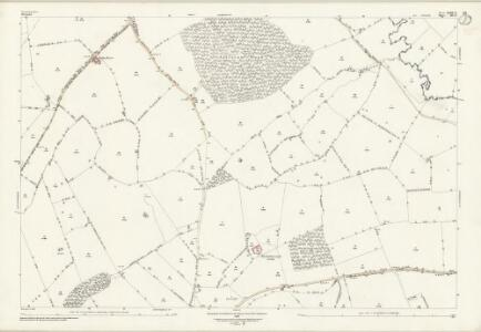 Leicestershire XXXIX.12 (includes: Allexton; Horninghold; Stockerston; Wardley) - 25 Inch Map