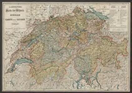 Karte der Schweiz für Schulen