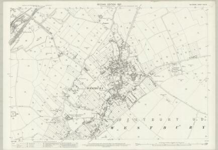Wiltshire XLIV.8 (includes: Heywood; Westbury) - 25 Inch Map