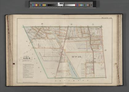 Rochester, Double Page Plate No. 24 [Map bounded by S. Goodman St., East Ave., Culver St., Warren St.] / compiled from official records, private plans & actual surveys under the direction of E. Robinson.