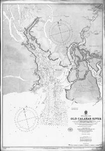 Old Calabar River; from sketch surveys 1869-90.