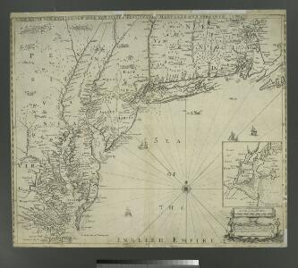 A new map of New England, New York, New Iarsey, Pensilvania, Maryland, and Virginia / by Philip Lea in Cheap-side, London.