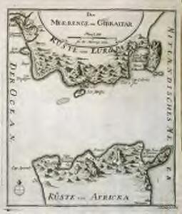 Die Meerenge von Gibraltar