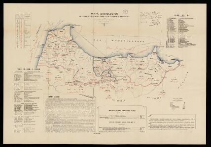 Mapa sociológico de la zona de inflencia española en el norte de Marruecos / por D. Antonio Martinez Pajares, Doctor en Derecho