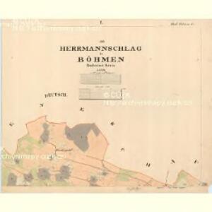 Hermannschlag - c3729-1-001 - Kaiserpflichtexemplar der Landkarten des stabilen Katasters
