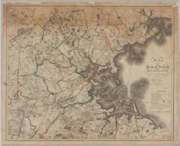 Map of Boston and its vicinity : from actual survey..., with corrections in 1833