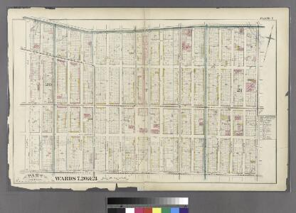 Plate 7: Bounded by Flushing Avenue, Nostrand Avenue, De Kalb Avenue and Clinton Avenue.