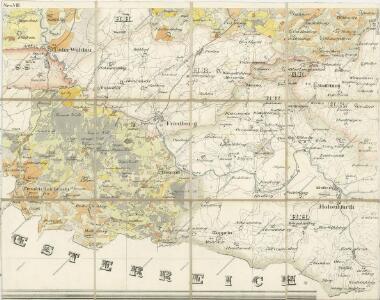 Topographische Karte der in Böhmen budweiser Kreises liegenden