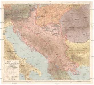 Handkarte des Jugoslawischen Reiches