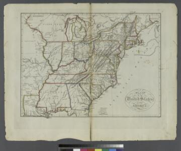 Map of the United States of America.; Carey's general atlas, improved and enlarged: being a collection of maps of the world and quarters, their principal empires, kingdoms, &c.