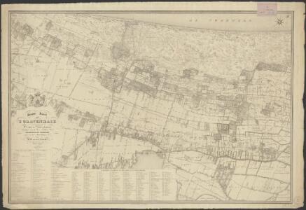 Nieuwe kaart van 's Gravenhage met de omliggende dorpen en buitenplaatsen