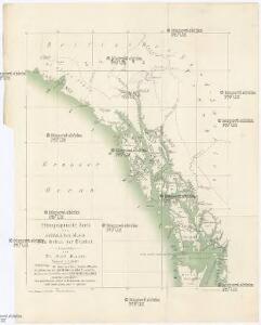 Ethnographische Karte des südöstlichen Alaska