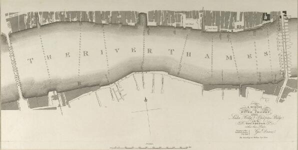 A SURVEY of the RIVER THAMES between London Bridge and Blackfriars Bridge with the SOUNDINGS within those Limits