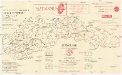 Mapa o stavu vozovek československých silnic