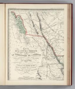 Facsimile:  Western Coast of America (portion).