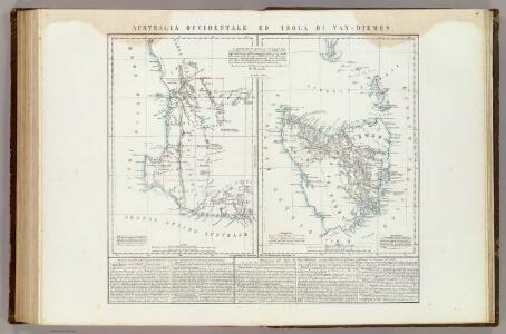 Australia Occidentale ed Isola di Van-Dieman.
