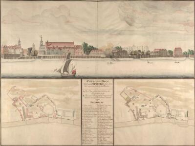 View of the Dockyard at Deptford Folios 65v 66