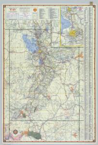 Shell Highway Map of Utah.