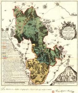 Hohenzollern Hechingische Forst-Carte welche Occasione derer in solchem Territorio Ao. 1733 enstandenen Unruhe