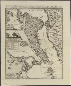 Nova et accurata geographica tabula insulae Corfu seu Corcyrae cum confiniis suis, ac portubus ex adverso in Graecia jacentibus