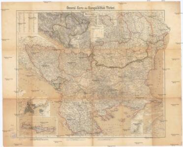 General-Karte der europäischen Türkei