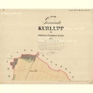Kurlupp - m1274-1-001 - Kaiserpflichtexemplar der Landkarten des stabilen Katasters