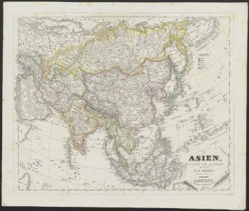 [Neuer Atlas der ganzen Erde nach den neuesten Bestimmungen ... : III.] Asien