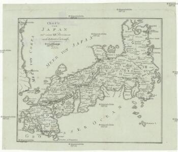 Charte von Japan mit seinen 7 Provinzen
