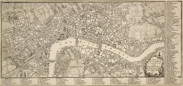 A PLAN of the CITIES of LONDON AND WESTMINSTER and BOROUGH of SOUTHWARK 1771