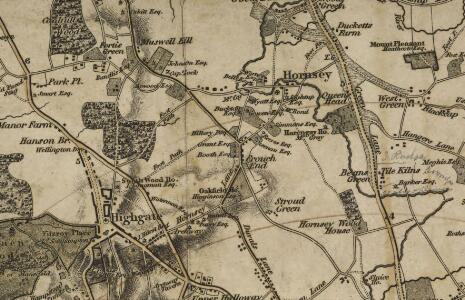 Map of the Country twelve miles round London. Engraved by W.R. Gardner.