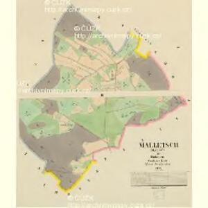 Malletsch (Maleč) - c4391-1-001 - Kaiserpflichtexemplar der Landkarten des stabilen Katasters