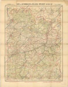 Carte pour automobilistes & cyclistes – Belgique section est
