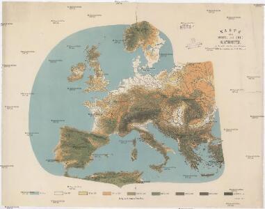 Karte von mittel und sued Europa