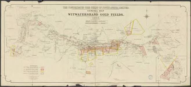 General map of the witwatersrand gold fields. The consolidated Gold Fields of south Africa, Limited